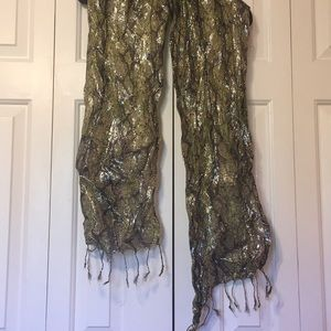 Accessories - Green and Black Snake Print Scarf